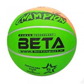 توپ بسکتبال لاستیکی سایز ۵ (فسفری) – (PBR5(mc
