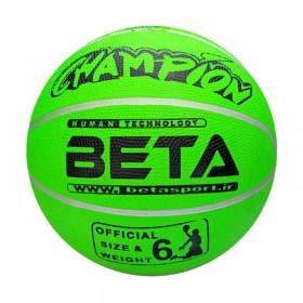 توپ بسکتبال لاستیکی سایز ۶ (فسفری) – (PBR6(mc