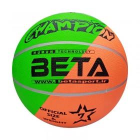 توپ بسکتبال لاستیکی سایز 7 (فسفری) – (PBR7(mc
