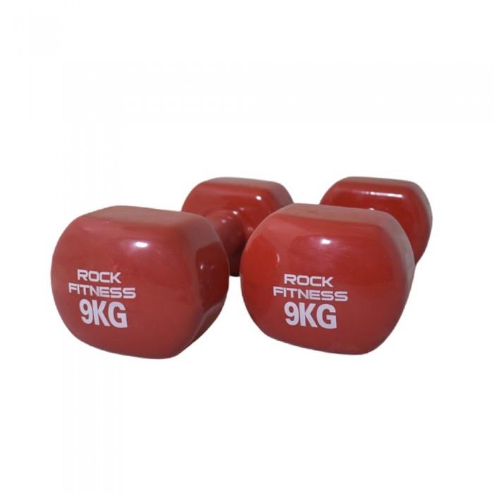 دمبل راک فیتنس مدل 2021 وزن 9 کیلوگرم بسته دو عددی