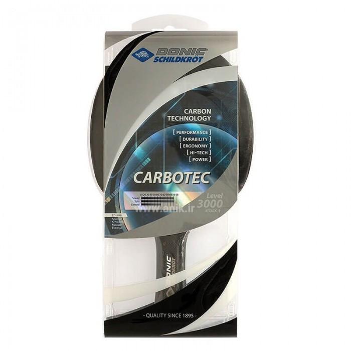 راکت پينگ پنگ دونيک شيلدکروت مدل Carbotec Level 3000 | Donic Schildkrot Carbotec Level 3000 Ping Pong Racket