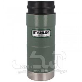 ماگ دگمه دار 350 میلی لیتر Stanley مدل One Handed Vacuum Mug Hammertone Green
